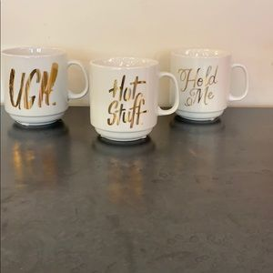 NEW! Small coffee mugs with gold sayings